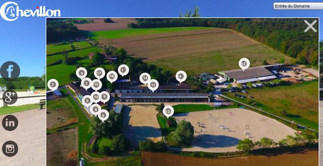 Colonie de vacances, visite virtuelle domaine equitation Chevillon à 1h30 de Paris